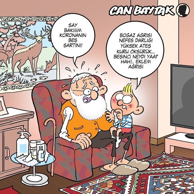 Can Baytak karikatürleri (Mart 2020)