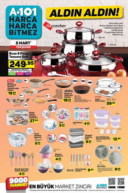 A101 aktüel ürünler kataloğu 5 Mart 2020 Perşembe! A101 katalogda indirimli ürünler neler?