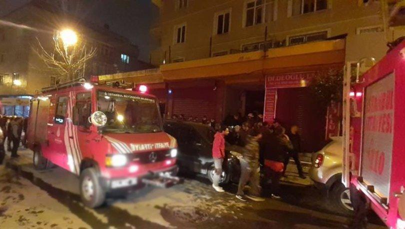Zeytinburnu'nda 8 katlı binada yangın paniği