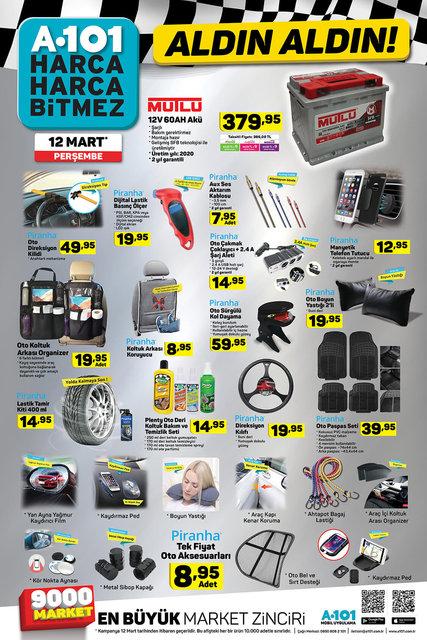 A101 aktüel ürünler kataloğu 12 Mart 2020 Perşembe! İşte A101 katalogdaki indirimli ürünler