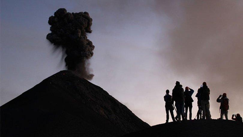 Yanardağ patlamasının eşsiz anları