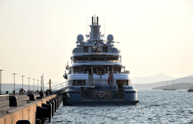 Dubai Şeyhinin lüks yatı Bodrum'da