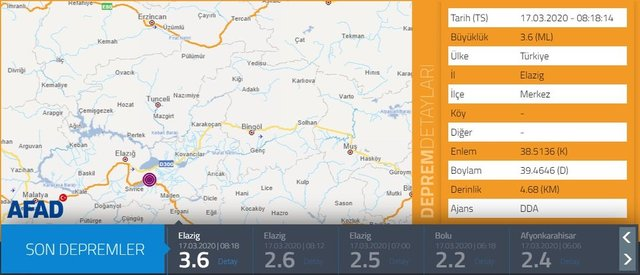 17 Mart Kandilli Rasathanesi ve AFAD Son depremler listesi - En son nerede deprem oldu?