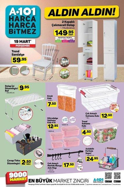 A101 aktüel ürünler kataloğu 19 Mart 2020 Perşembe! İşte A101 katalogdaki ürünler
