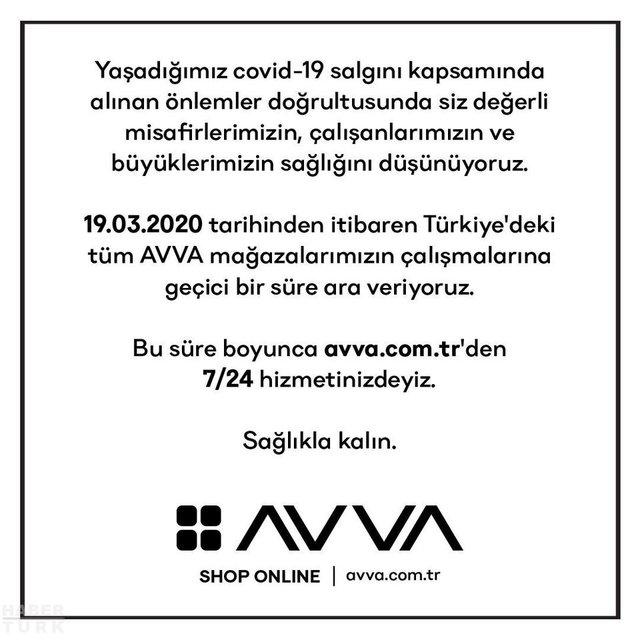 Koronavirüs nedeniyle mağazalarını kapatan markalar