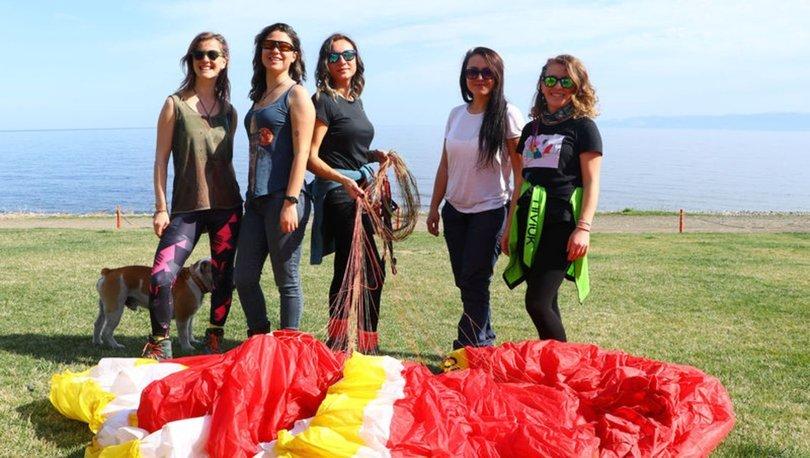 kadın paraşütçüler