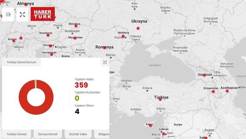 Habertürk'ten koronavirüs için harita ve özel sayfa