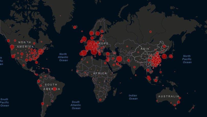 Corona virüsü haritası CANLI 22 Mart 2020 | Dünyadaki ve Türkiye'de corona virüsü son durumu