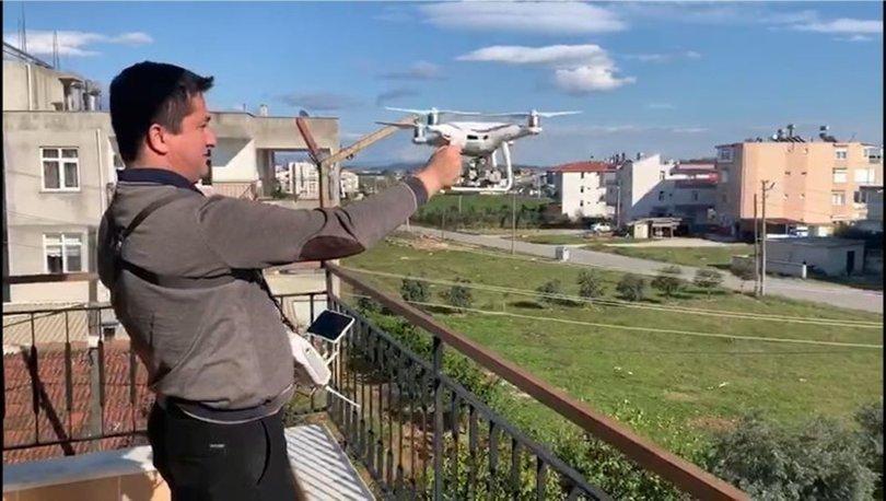 Antalya'da market alışverişini drone ile yaparak