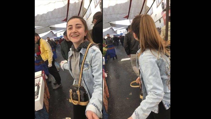 Son dakika haberi! Anneannesi için alışverişe çıkan genç kızın pazarcıyla moral düeti!