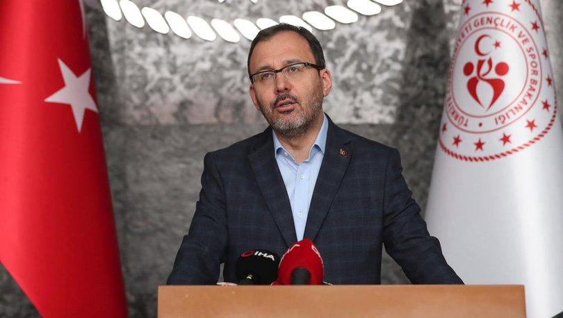 Gençlik ve Spor Bakanı Kasapoğlu: Sağlığımız için evlerimizde kalalım