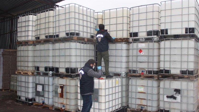 İstanbul'da kaçak dezenfektan imalathanesine baskın