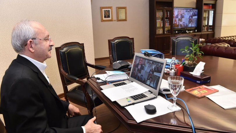 CHP ldieri Kemal Kılıçdaroğlu'ndan CHP'li başkanlarla koronavirüs toplantısı