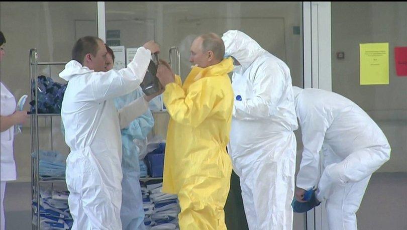 Putin koronavirüs hastalarını ziyaret etti. - Haberler