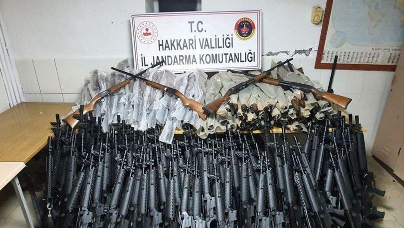 Hakkari'de 226 adet av tüfeği ele geçirildi