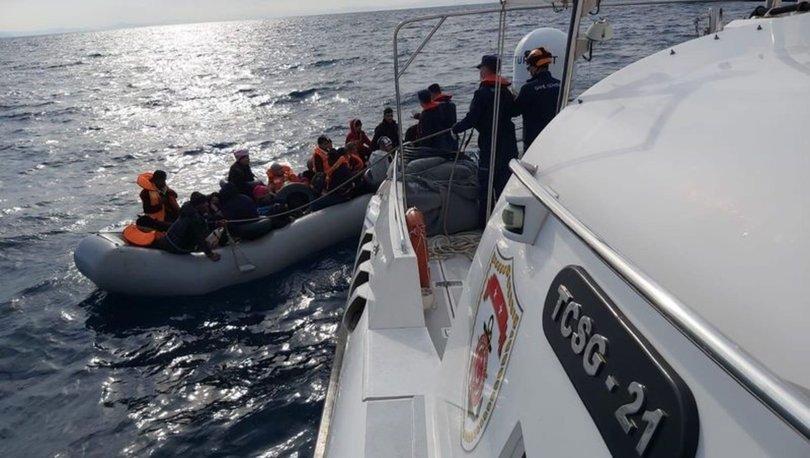 Aydın'ın Didim ilçesi açıklarında 35 sığınmacı kurtarıldı