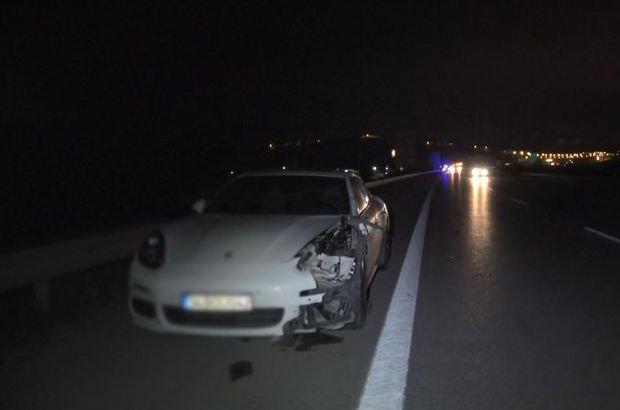 Otobanda feci kaza! Otomobilin çarptığı yaya öldü