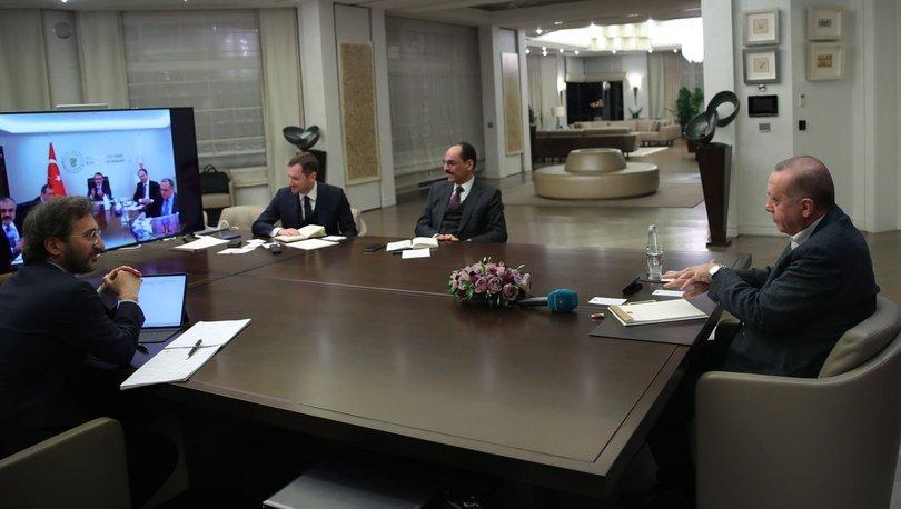 Son dakika haber! Cumhurbaşkanı Erdoğan'dan bakanlarla telekonferans - Haber
