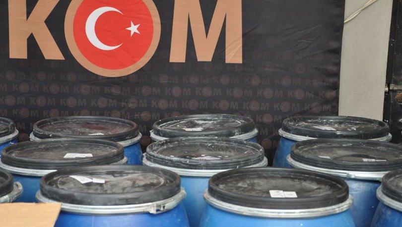 Hatay'da 3 ton sahte dezenfektan ele geçirildi