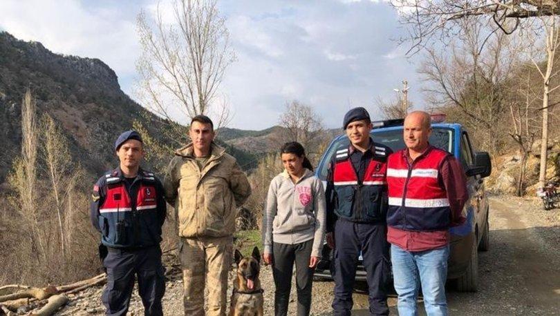 Adanada kaybolan engelli kızı iz takip köpeği buldu