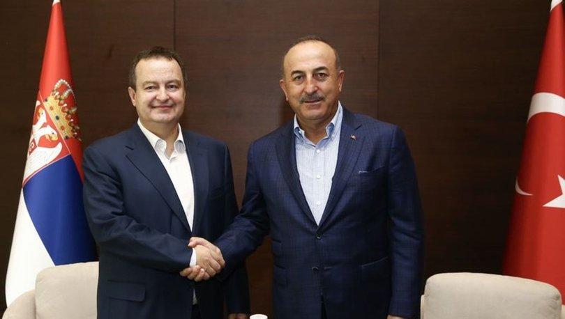 Dışişleri Bakanı Mevlüt Çavuşoğlu, Sırbistanlı mevkidaşı Dacic ile görüştü