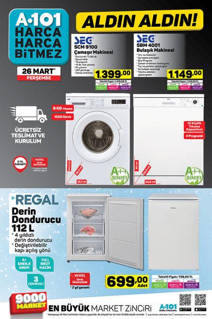 A101 26 Mart Aktüel ürünler kataloğu! A101'de bu hafta indirimli neler var?