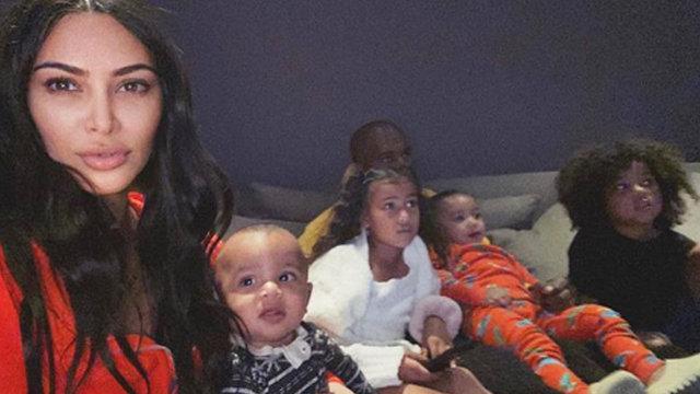 Kim Kardashian'dan aile pozu - Magazin haberleri