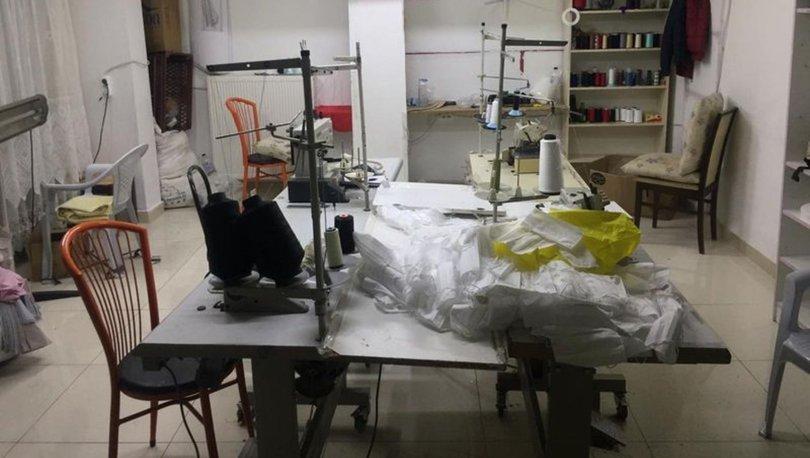 Ankara'da kaçak maske üreten iş yeri mühürlendi