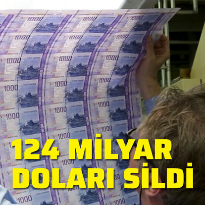 124 milyar doları sildi