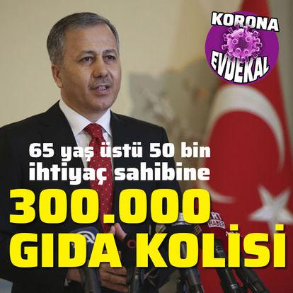İstanbul Valisi: 50 bin vatandaşımıza gıda kolisi ulaştıracağız