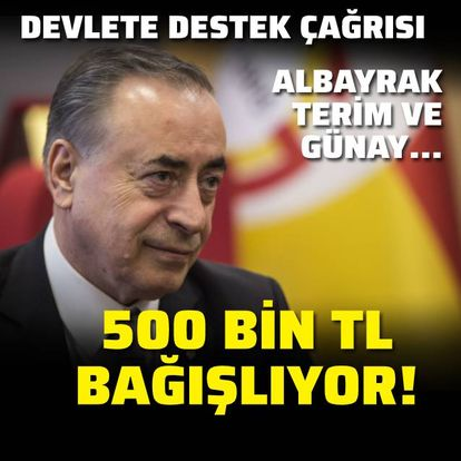 500 bin TL bağışlıyor!