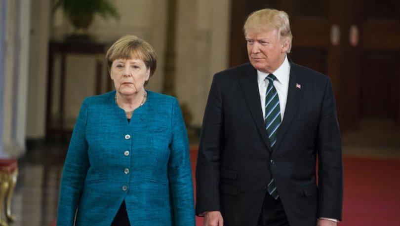 Almanya Başbakanı Merkel ile ABD Başkanı Trump görüştü