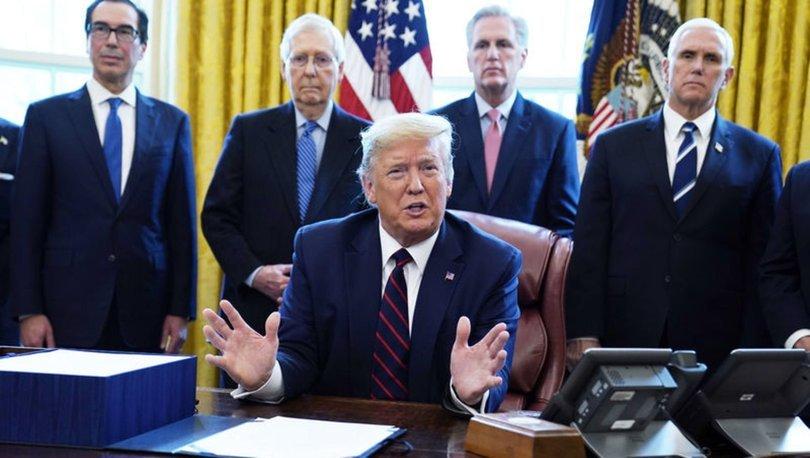 ABD Başkanı Trump, koronavirüs salgınına karşı ekonomik teşvik paketini onayladı