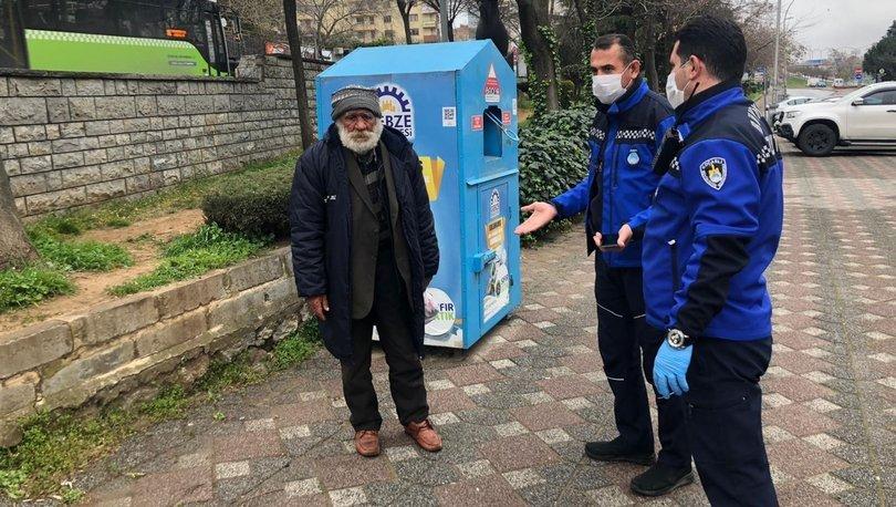Kocaeli'de sokakta yaşayan İsmail Amca ikna oldui barınma evine yerleştirildi - Haberler