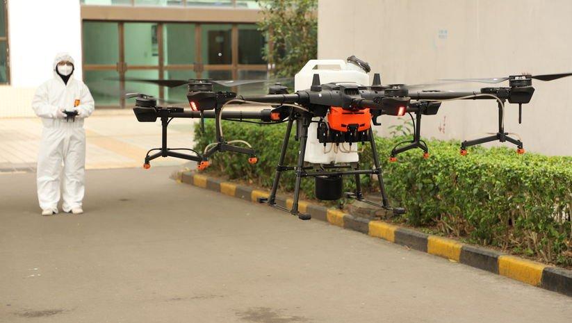 Bu drone'lar koronavirüs ile savaşıyor