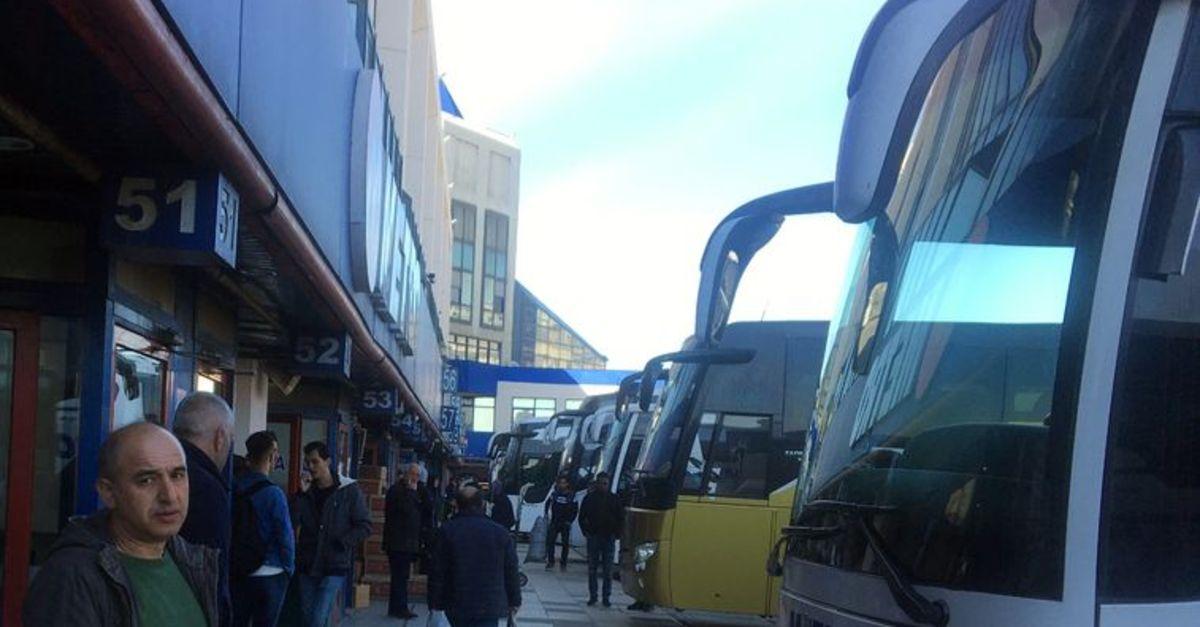 İstanbul'dan saat 17.00'den itibaren şehirler arası otobüs seferi olmayacak