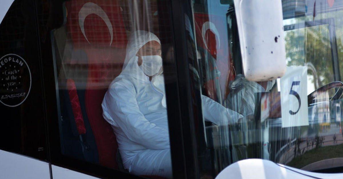 KKTC'den 141 kişi Kovid-19 tedbirleri kapsamında Karaman'a gönderildi
