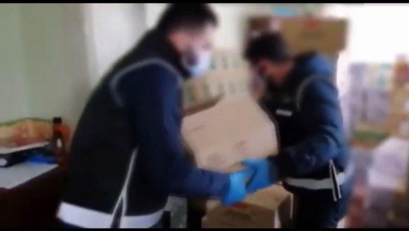 Konya'da stoklandığı öne sürülen 142 bin maske ve eldiven ele geçirildi