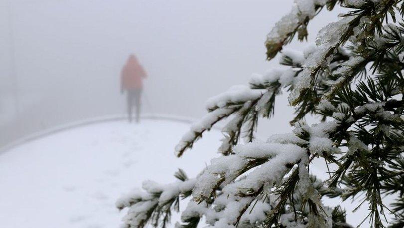 Bolu'da kar yağışı başladı! Bolu'da hava durumu
