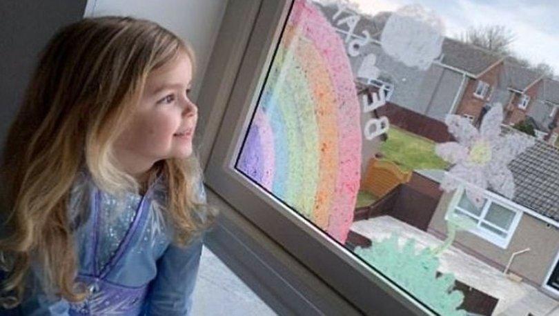 Çocuklar dünyayı gökkuşağına boyuyor