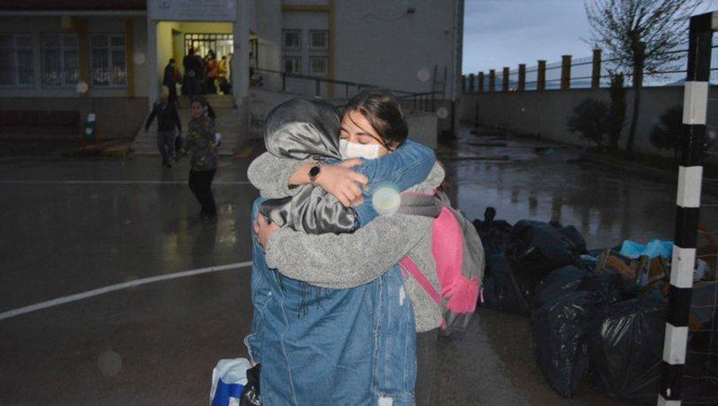 14 günlük karantina süresi biten öğrenciler ailelerine kavuştu