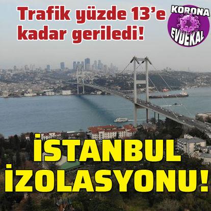 Ulaşım yüzde 13'e düştü! İstanbul izolasyonu!