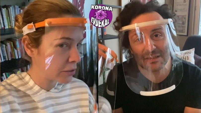 Begüm Kütük-Erdil Yaşaroğlu çiftinden sağlık çalışanlarına destek - Magazin haberleri