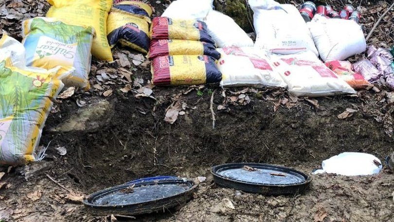 Bitliste PKKlı teröristlere ait malzemeler imha edildi