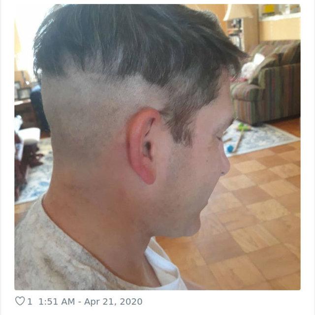 Koronavirüs bunu da yaptırdı! Saçlarını evde kesenler paylaştı
