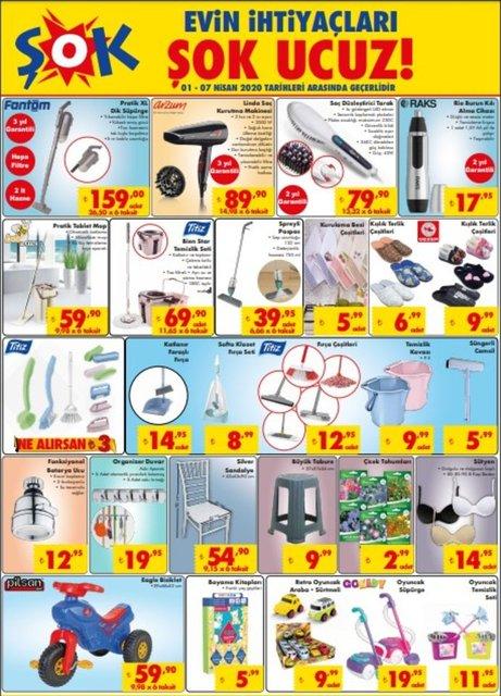 ŞOK 1-7 Nisan Aktüel ürünler kataloğu 2020! ŞOK'da bu hafta kampanyalı indirimli ürünler var