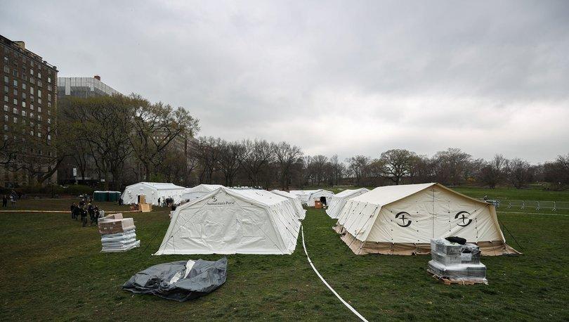 Central Park'ta koronavirüsle mücadele için ilk yardım hastanesi kuruldu - Haberler