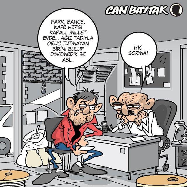 Can Baytak karikatürleri (Nisan 2020)