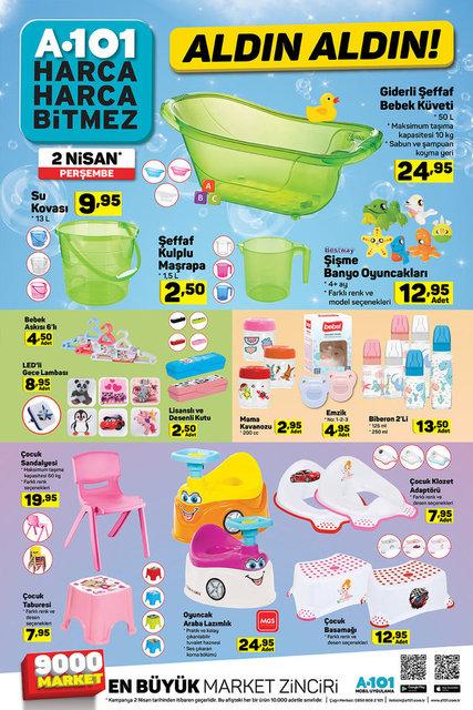 2 Nisan A101 Aktüel ürünler kataloğu! A101'de bu hafta indirimli neler var?