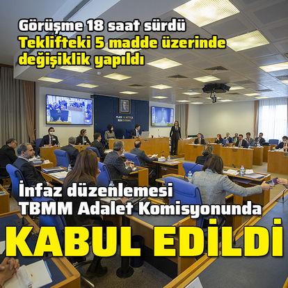 İnfaz düzenlemesi Meclis Komisyonunda kabul edildi